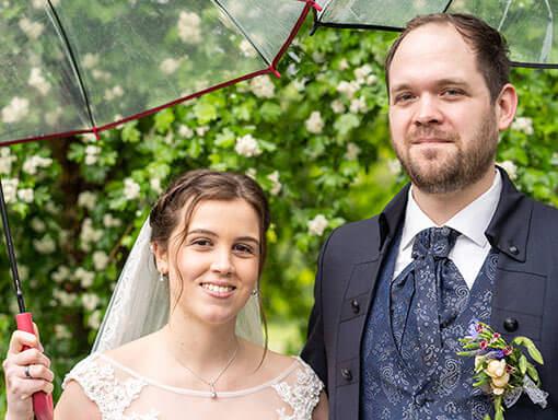 Brautpaar-Shooting trotz Regen