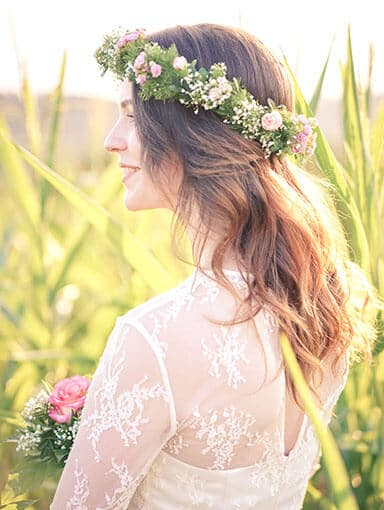 Hochzeitsfotografie - Braut im Maisfeld