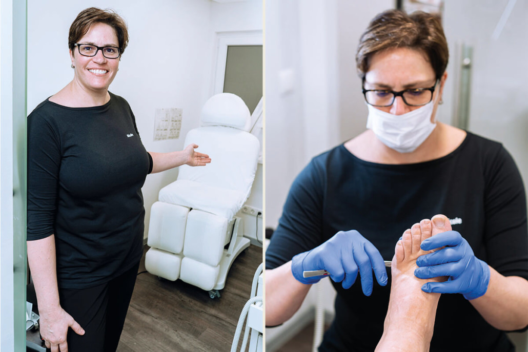 Medizinische Fußpflegerin Nicole Stein im Haarstudio Bianka Diehl in Großseelheim bei Kirchhain