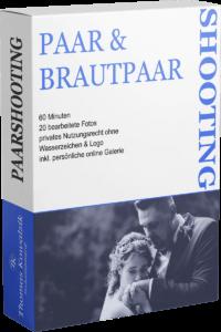 Symbolische Produktverpackung für ein Paar & Brautpaar Shooting