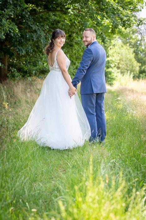 Brautpaar Shooting am Waldrand bei Kirchhain